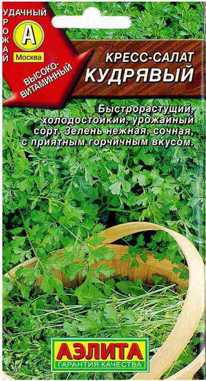 Семена Аэлита Салат кудрявый. Кресс-Салат4601729058233Среднеранний сорт, зелень готова к употреблению через 2-3 недели после посева. Пригоден для круглогодичноговыращивания в закрытом грунте, в том числе для горшечной культуры в комнатах. Розетка листьев крупная,высотой 18-20 см, число листьев в розетке 12-18. Листья крупные, рассеченные, светло-зеленые. Ткань пластинкилиста и молодых побегов нежная, сочная, с приятным горчичным вкусом. Урожайность 0,7-1,5 кг/м2. Используетсядля салатов, бутербродов, гарниров. Посев семян в открытый грунт на глубину 1-1,5 см. Как правило, всходы не прореживают. Чтобы получать зелень втечение продолжительного времени, семена высевают несколько раз за сезон с интервалом 10-15 дней.Растениям необходимы регулярные поливы, рыхления и прополки. Товар сертифицирован.Уважаемые клиенты! Обращаем ваше внимание на то, что упаковка может иметь несколько видов дизайна.Поставка осуществляется в зависимости от наличия на складе.