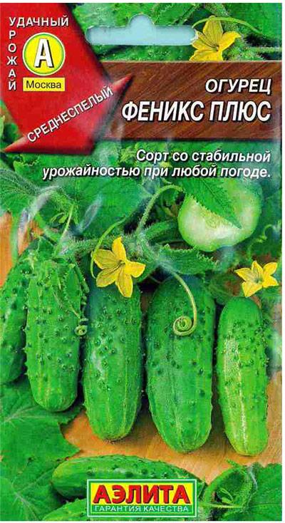 Семена Аэлита Огурец. Феникс плюс4601729078378 Уважаемые клиенты! Обращаем ваше внимание на то, что упаковка может иметь несколько видов дизайна. Поставка осуществляется в зависимости от наличия на складе.