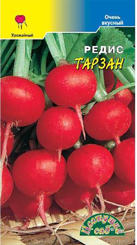 Семена Цветущий сад Редис. Тарзан4607021806244Очень ранний сорт с красивыми, округлыми, насыщено красными корнеплодами для выращивания, как в открытом, так и в защищенном грунте. Ценность сорта: возможность круглогодичного выращивания; крупные корнеплоды отличных вкусовых качеств; устойчивость к цветушности и дряблению корнеплодов.Редис выращивают прямым посевом семян в грунт, начиная с конца апреля и продолжая до середины октября. Глубина заделки семян не более 1 см. Для получения крупных, выровненных корнеплодов всходы прореживают, оставляя между растениями 2-3 см. Дальнейший уход заключается в регулярных поливах, подкормках и рыхлении почвы. Товар сертифицирован. Уважаемые клиенты! Обращаем ваше внимание на то, что упаковка может иметь несколько видов дизайна. Поставка осуществляется в зависимости от наличия на складе.