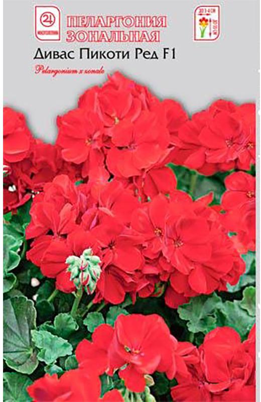 Семена Алтая Пеларгония зональная. Дивас Пикоти Ред F14620009639863Многолетник, великолепный гибрид! Одно из самых распространенных и любимых комнатных и балконных растений. Формирует объемный компактный куст высотой 25-30 см и шириной до 35 см. Растения компактные, ветвящиеся, с аккуратными насыщенно-зелеными листьями и крупными соцветиями. Цветки простые, крупные, в диаметре до 3-4 см, собраны в огромные шапки соцветий красной окраски.Размер соцветия 10-12 см. Раннее и обильное цветение с июня по октябрь. Используют в озеленении лоджий, веранд, балконов, а также для создания цветочных композиций в саду. Одно из самых неприхотливых растений. Уход за ним не требует значительных усилий. Пеларгония светолюбива, легко переносит недостаток влаги. В теплое время любит обильный частый полив, в зимнее - полив умеренный. Подкармливают растения калийными удобрениями. Посев производят с января по март. Всходы появляются через 2-3 недели после посева. При появлении 2-3 настоящих листьев растения пикируют. Для лучшего цветения побеги прищипывают в фазе 4-5 пар листьев.Уважаемые клиенты! Обращаем ваше внимание на то, что упаковка может иметь несколько видов дизайна. Поставка осуществляется в зависимости от наличия на складе.