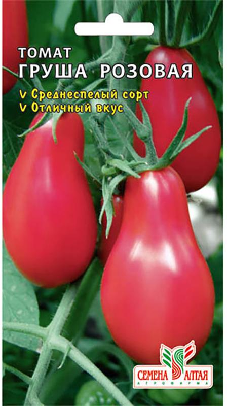 Семена Алтая Томат. Груша Розовая4630002510427Среднеспелый, салатный сорт для открытого грунта. Плоды красивойгрушевидной формы, интенсивно розовой окраски, массой 100 г. Сорт отличаетсястабильной урожайностью, высокими вкусовыми качествами в консервированномвиде. В марте семена высевают на слегка утрамбованный грунт, мульчируютторфом или почвенным слоем 1,0 см, поливают теплой водой через ситечко,накрывают пленкой и ставят в теплое (около 25°С) место. После появлениявсходов пленку снимают, рассаду размещают в светлом месте. В течение 5-7 сутоктемпературу поддерживают на уровне 15-16°С, затем повышают до 20-22°С. Вфазе 1-2 настоящих листьев рассаду пикируют. 60-65-дневную рассаду в фазе 6-7настоящих листьев и хотя бы одной цветочной кисти высаживают в защищенныйили открытый грунт.Уважаемые клиенты! Обращаем ваше внимание на то, что упаковка может иметьнесколько видов дизайна. Поставка осуществляется в зависимости от наличия наскладе.