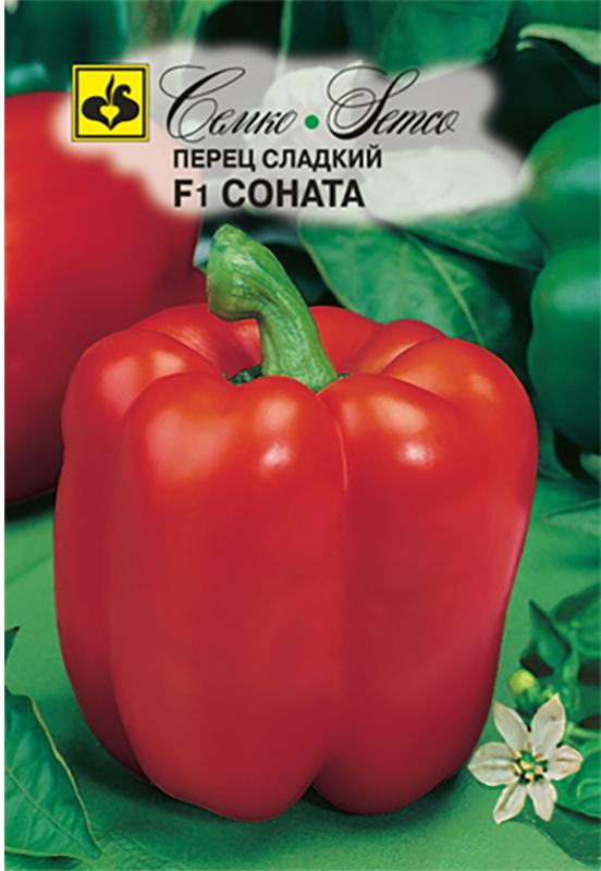 Семена Семко Перец Соната F14640001824586Уважаемые клиенты! Обращаем ваше внимание на то, что упаковка может иметь несколько видов дизайна. Поставка осуществляется в зависимости от наличия на складе.