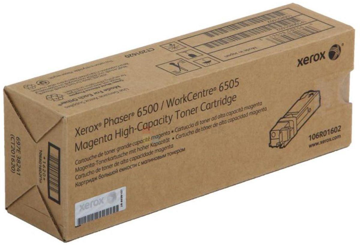 Xerox 106R01602, Magenta тонер-картридж для Phaser 6500/WorkCentre 6505106R01602Картридж лазерный Xerox 106R01602 идеально подходит для работы с Xerox Phaser 6500 / WorkCentre 6505. Он способен обеспечить печать 2500 страниц при использовании стандартной бумаги формата А4. Картридж изготовлен из качественных материалов и гарантирует работоспособность даже в условиях максимальной загрузки устройства. Картридж предназначен для печати красным цветом и обеспечивает бесперебойную работу современного оборудования. Xerox 106R01602 ? это сочетание лучших материалов по доступной цене.