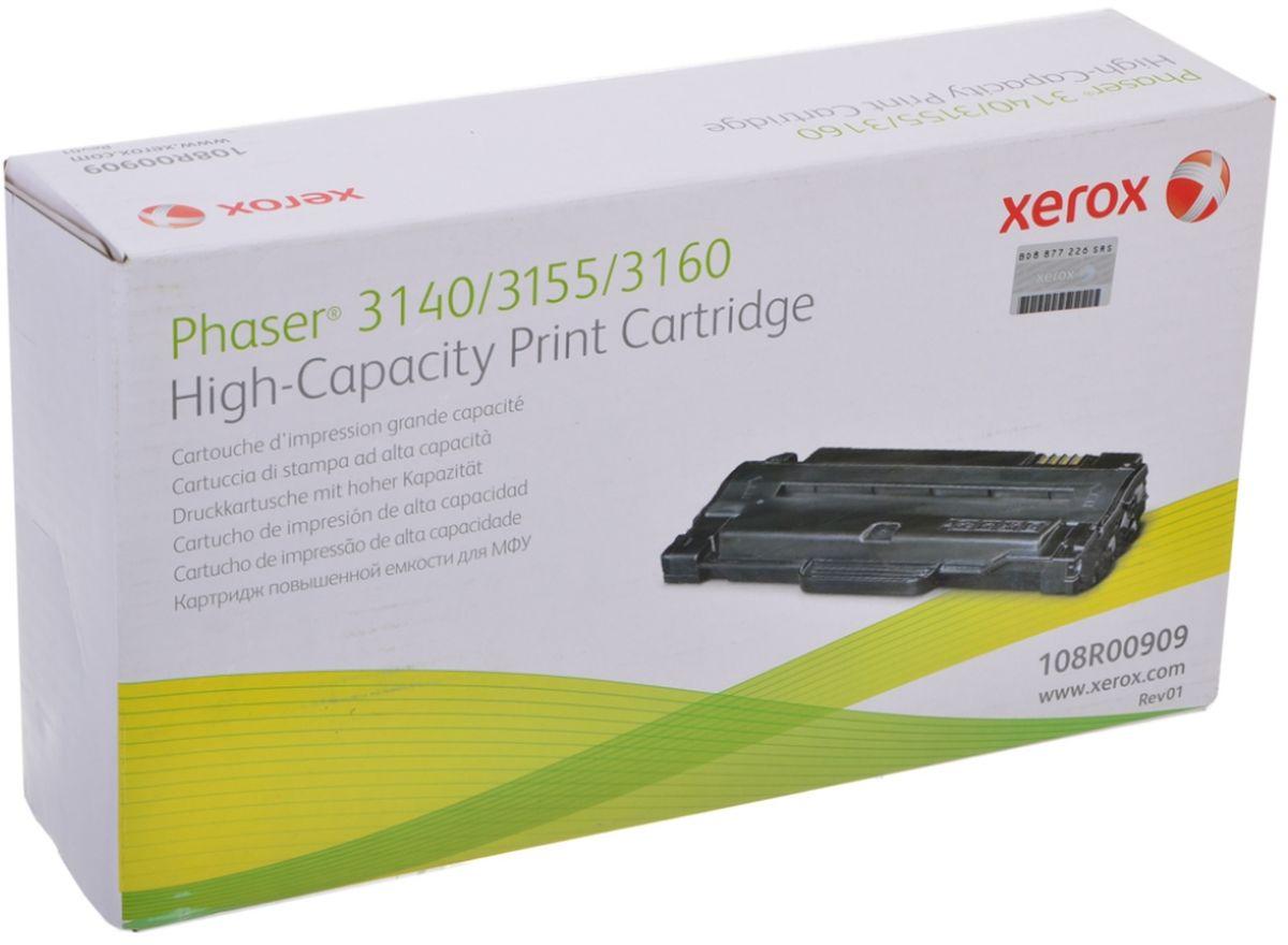Xerox 108R00909, Black тонер-картридж для Xerox Phaser 3140108R00909Картридж лазерный Xerox 108R00909 идеально подходит для работы с Xerox Phaser 3140. Он способен обеспечить печать 2500 страниц при использовании стандартной бумаги формата А4. Картридж изготовлен из качественных материалов и гарантирует работоспособность даже в условиях максимальной загрузки устройства. Картридж предназначен для печати черным цветом и обеспечивает бесперебойную работу современного оборудования. Xerox 108R00909 ? это сочетание лучших материалов по доступной цене.