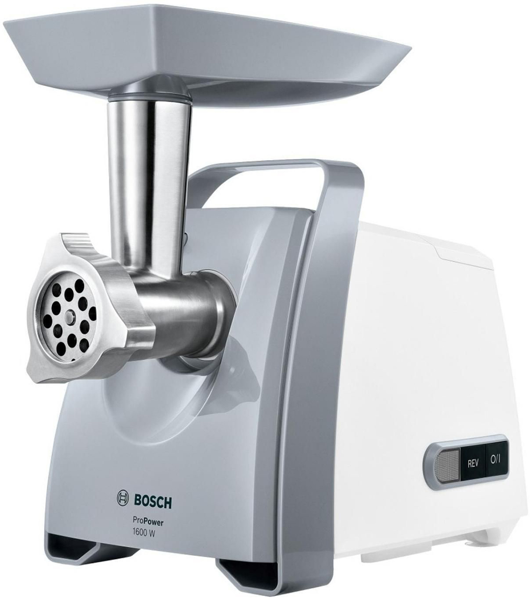 Мясорубка Bosch MFW45020 ProPower, White Silver bosch мясорубка propower mfw66020 1800вт
