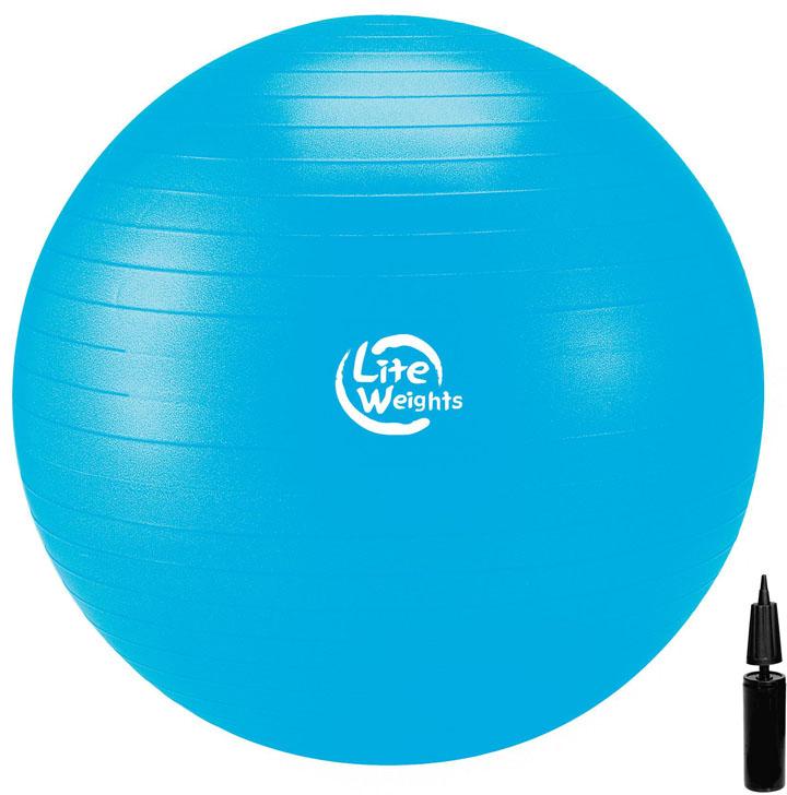 "Мяч гимнастический ""Lite Weights"", цвет: голубой, диаметр 75 см"