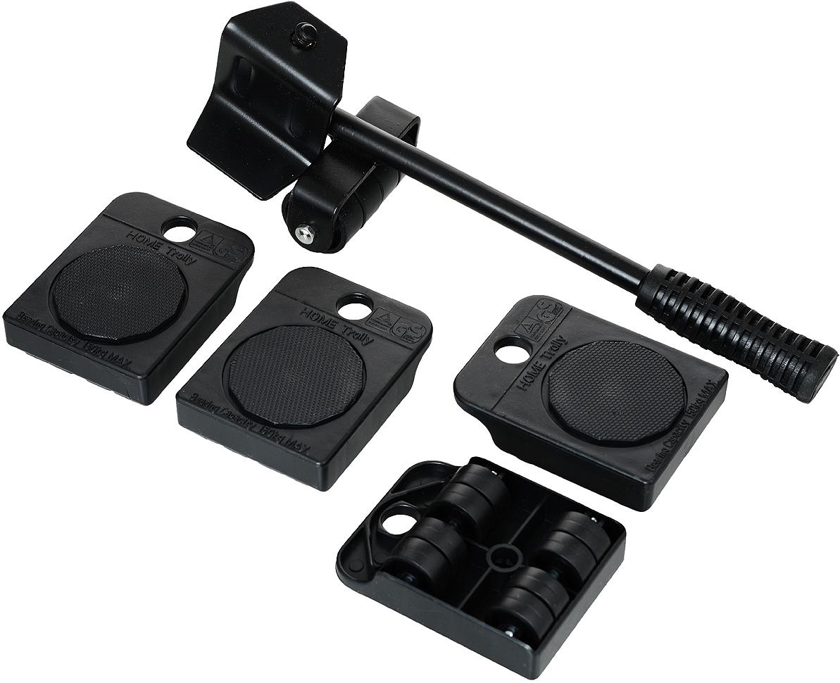 Набор для перемещения мебели Bradex Транспортер, цвет: черный, 5 предметов комплект для уборки ламината и паркета leifheit care&protect 5 предметов
