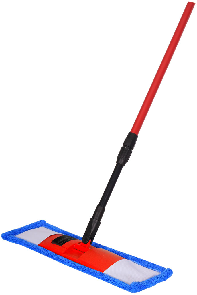 Швабра Hausmann, с телескопической ручкой, 75-130 см. P-211P-211Швабра Hausmann предназначена для сухой и влажной уборкиполов с любым типом напольной поверхности: кафель, паркет, ламинат,линолеум. Металлическая телескопическая ручка позволяет отрегулироватьшвабру по высоте для удобного использования.Материал насадки - шинил (микрофволокно), который обладает высокойизносостойкостью, не царапает поверхности и отлично впитывает влагу. Складывающийся механизм швабры позволяет легко заменить насадку. Дляснятия насадки надо нажать на кнопку держателя ногой и потянуть ручкувверх. При надевании насадки на швабру насадку положить на пол ипоставить сверху держатель. Оба конца держателя вставить в карманынасадки, надавить на ручку, расправить насадку и зафиксировать насадку долёгкого щелчка держателя. Длина ручки: 75-130 см.Размер насадки: 44 х 14 см.