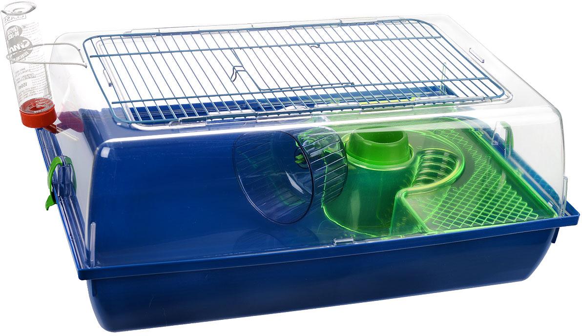 "Клетка для хомяков I.P.T.S. ""Alex"", цвет: синий, 58 см х 38 см х 25 см"