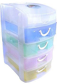Контейнер для мелочей с 4 ящиками YS94-5414, 19*14.7*26.8см7706188Контейнер для мелочей изготовлен из прозрачного пластика, что позволяет видеть содержимое. Внутри содержится 5 ячеек для хранения мелких принадлежностей. Крышка плотно закрывается. Такой контейнер поможет держать вещи в порядке. Идеально подходит для хранения принадлежностей для шитья и других мелких бытовых предметов.