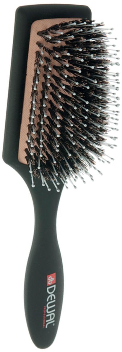 Dewal Расческа массажная, с натуральной щетиной и пластиковыми зубцами. BR7509BR7509В ассортименте торговой марки Dewal (Деваль) имеются расчески на все случаи жизни, с помощью которых можно выполнять стрижки, укладки, модельные причёски и другие манипуляции с волосами. Вообще расческа для волос считается для парикмахера самым простым, но при этом незаменимым инструментом.Массажная щетка «лопата» скомбинированной щетиной (натуральная щетина + пластиковый штифт ) идеальна для расчесываниялюбых волос и массажа кожи головы .Продуманная конструкция, эргономичный дизайн обеспечивают комфортную работу парикмахера. Расчёски с лёгкостью скользят по волосам, удобно ложатся в руку.