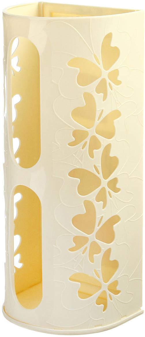 Корзина для пакетов Berossi Fly, цвет: слоновая кость868662Корзина для пакетов Berossi Fly, изготовлена из высококачественного пластика. Эта практичная корзина наведет порядок в кладовке или кухонном шкафу ипозволит хранить пластиковые пакеты или хозяйственные сумочки во всегдадоступном месте! Изделие декорировано резным изображением бабочек. Корзина просто подвешивается на дверь шкафчика изнутри или снаружи, в зависимости от назначения. Внутри изделия есть специальные отверстия.Корзина для пакетов Berossi Fly будет замечательным подарком для поддержания чистоты и порядка. Она сэкономит место, гармонично впишется в интерьер и будет радовать вас уникальным дизайном. Размеры в собранном виде (ДxШxГ): 37 x 16 x 13 см.