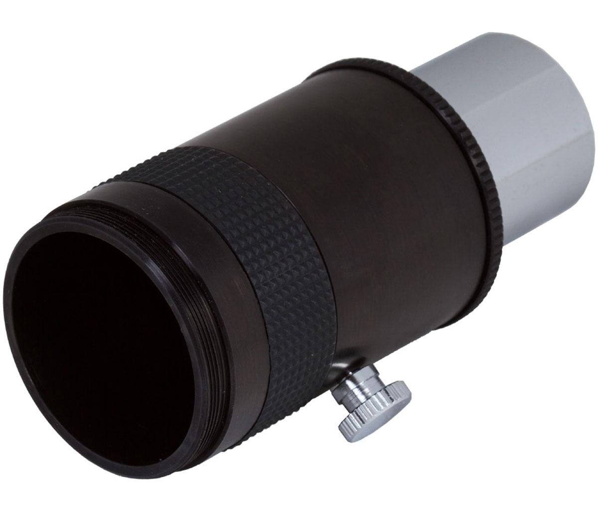 Bresser 69822 фотоадаптер для телескопов 1,2569822Откройте для себя мир астрофотографии с помощью фотоадаптера Bresser! Замените окуляр телескопа адаптером, присоедините зеркальную камеру и снимайте Луну и все планеты Солнечной системы. Установите окуляр или линзу Барлоу в адаптере, затем поставьте их в телескоп, и для съемки станут доступны любые объекты далекого космоса. Их можно снимать обычной цифровой мыльницей.Фотоадаптер Bresser позволяет делать снимки космических тел в прямом фокусе или проекции окуляра. Стандартный посадочный диаметр адаптера дает возможность использовать его с большинством современных телескопов. Для закрепления камеры понадобится Т2-кольцо (приобретается отдельно).