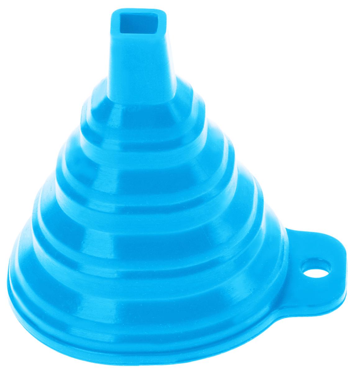 Воронка Доляна Квадро, складная, цвет: голубой, 7 х 7 х 9 см811938Складная воронка Доляна Квадро понадобится любой хозяйке. Выполнена из силикона. Материал позволяет варьировать размер слива в зависимости от диаметра горловины и условий хранения. Она проста в использовании.Размеры: 7 х 7 х 9 см.