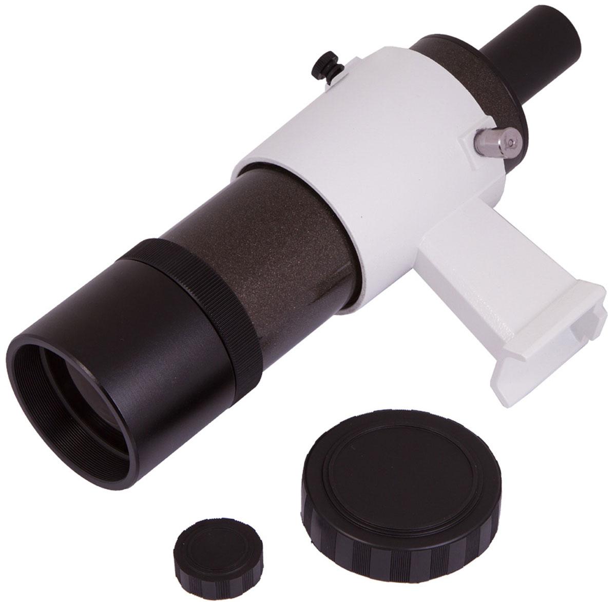 Sky-Watcher 68576 искатель оптический с креплением 8 x 5068576Ахроматический искатель Sky-Watcher 8 x 50 поможет найти интересующий вас объект в ночном небе. Качественная полностью просветленная оптика формирует яркое и чистое изображение. Искатель дает 8-кратное увеличение. Широкое поле зрения позволяет охватить взглядом большое пространство.Эта модель поставляется с держателем, при помощи которого можно легко выровнять трубку искателя относительно телескопа.