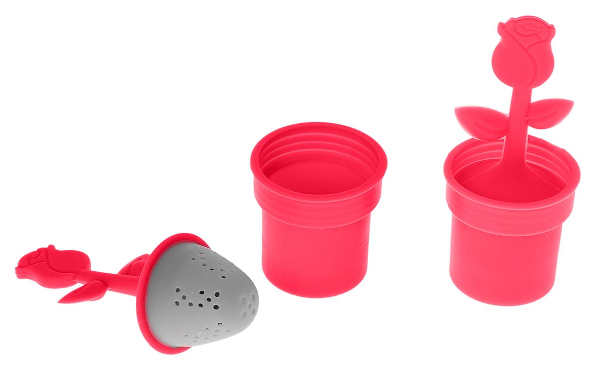Ситечко для чая Доляна Роза, цвет: красный, 12 х 5 см861120Ситечко для чая Доляна Роза поможет вам быстро заваритьлистовой чай прямо в кружке. Все, что нужно - это насыпатьвнутрь ситечка смесь и плотно закрыть его крышкой. Чтобы незагрязнить стол, предусмотрена подставка.Яркий дизайн предмета сделает атмосферу чаепитиянепринужденной. Изделие выполнено из силикона, оно невпитывает запахов и не передает их, а также легко отмываетсяот налета. Оригинальный предмет станет отличным подаркомвзрослым и детям.Высота изделия (с подставкой): 12 см.Диаметр ситечка: 5 см.