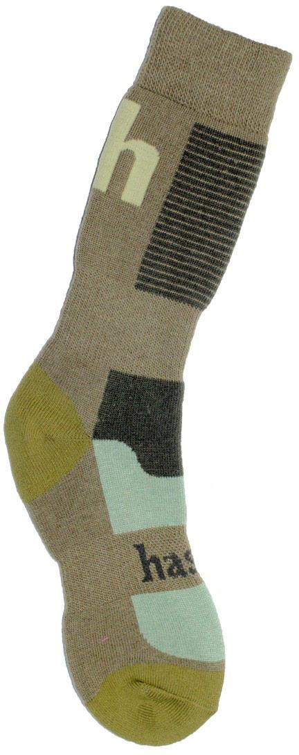 Термоноски мужские Haski, цвет: зеленый, коричневый. H001. Размер 44/46H001Мужские термоноски Haski предназначены для длительного нахождения на улице в холодную и очень холодную погоду. Многозональная модель выполнена из акрила, полиамида, мериносовой шерсти и кордура. Модель имеет увеличенную толщину для максимального сохранения тепла. Шерсть мериносов отлично сохраняет тепло, впитывает влагу и поглощает запах.