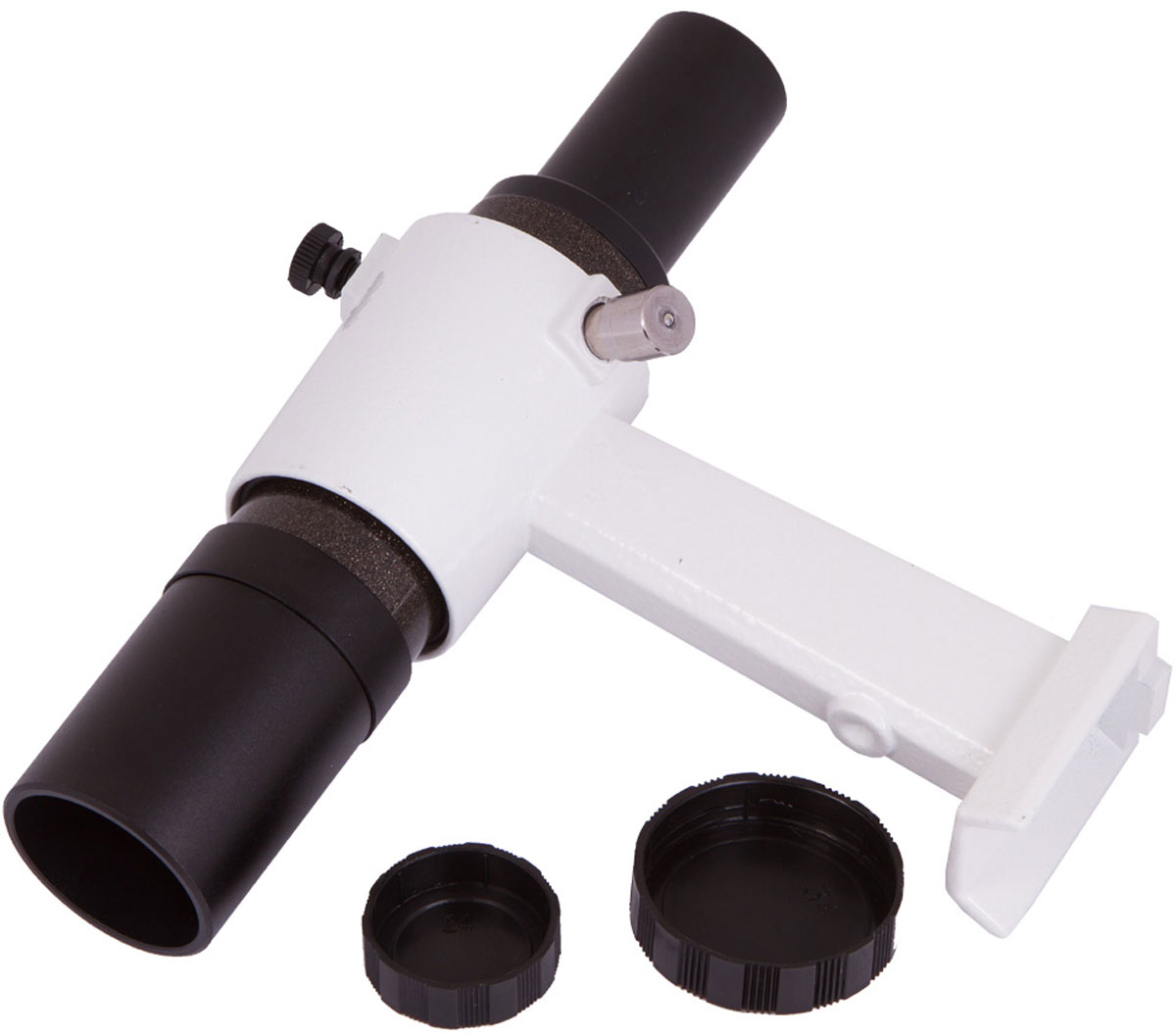 Sky-Watcher 68577 искатель оптический оборачивающий с креплением 6 x 3068577Ахроматический оборачивающий искатель Sky-Watcher 6 x 30 прекрасно подходит для поиска небесных тел и наземных объектов. Искатель дает правильно ориентированное изображение – это особенно ценно при ландшафтных наблюдениях. В комплект входит держатель для установки на оптическую трубу. Трубка искателя выравнивается параллельно трубе телескопа и фиксируется винтами.