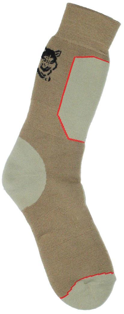 Термоноски мужские Haski, цвет: коричневый, серо-бежевый, черный, красный. H007. Размер 41/43H007Мужские термоноски Haski предназначены для длительного нахождения на улице в холодную и очень холодную погоду. Многозональная модель выполнена из акрила, полиамида, мериносовой шерсти и кордура. Модель имеет увеличенную толщину для максимального сохранения тепла. Шерсть мериносов отлично сохраняет тепло, впитывает влагу и поглощает запах.Термоизоляция: высокая. Влагоотдача: не высокая. Износостойкость: не высокая.