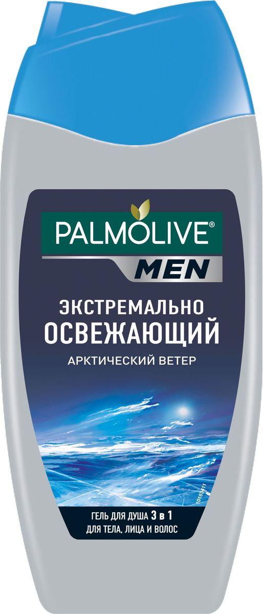 Palmolive Men гель для душа 3 в 1 мужской Экстремально освежающий Арктический ветер для тела, лица и волос, 250 мл