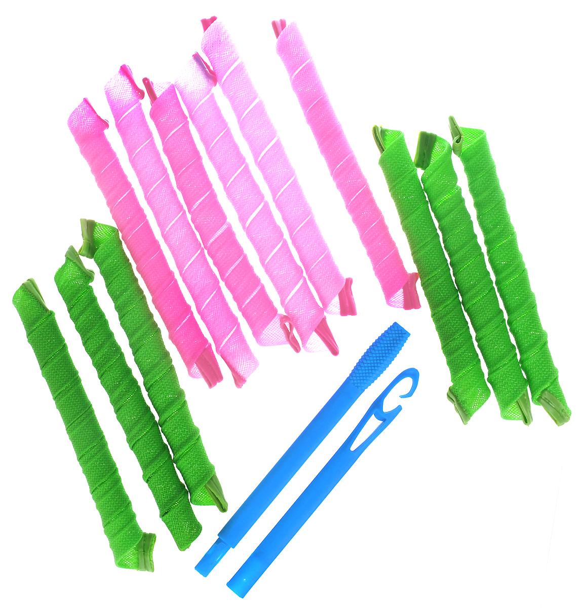 Magic Leverage Волшебные бигуди Длинные лайт 50 см, 12 штДл50Волшебные бигуди Длинные весенние - отличаются от уже известных всем Длинных Волшебных бигуди количеством и тем, что закручивают в одном направлении. Они бережно завивают волосы, не повреждая и не спутывая их. Пряди накручиваются равномерно, в одном направлении, а прическа получается объемной и аккуратной. Благодаря удобной упаковке-косметичке и складному крючку набор займет мало места и всегда будет под рукой.Характеристики:Длина: 50-52 смШирина локона: 2 смДиаметр завитка: 2 смКоличество: 12 шт.Крючок: двойнойУпаковка: коробка Уважаемые клиенты!Обращаем ваше внимание на цветовой ассортимент товара. Поставка осуществляется в зависимости от наличия на складе.