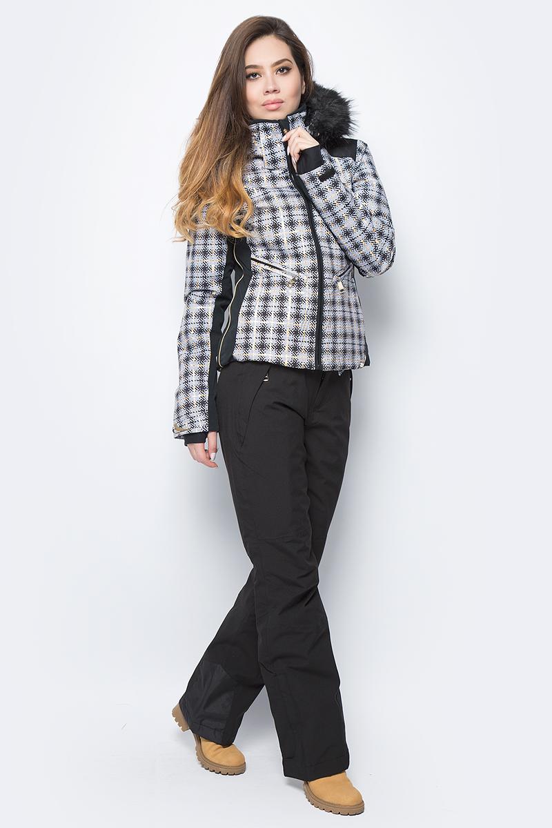 Куртка женская Luhta, цвет: серый, черный. 838426361L7V_094. Размер 40 (48)838426361L7V_094Женская куртка Luhta выполнена из непромокаемой ветрозащитной ткани. Куртка с воротником-стойкой и съемным капюшоном застегивается на удобную застежку-молнию спереди. Капюшон дополнен искусственным мехом. Рукава оснащены внутренними трикотажными манжетами. Спереди расположены два втачных кармана на застежках-молниях. По низу куртка дополнена шнурком-кулиской.