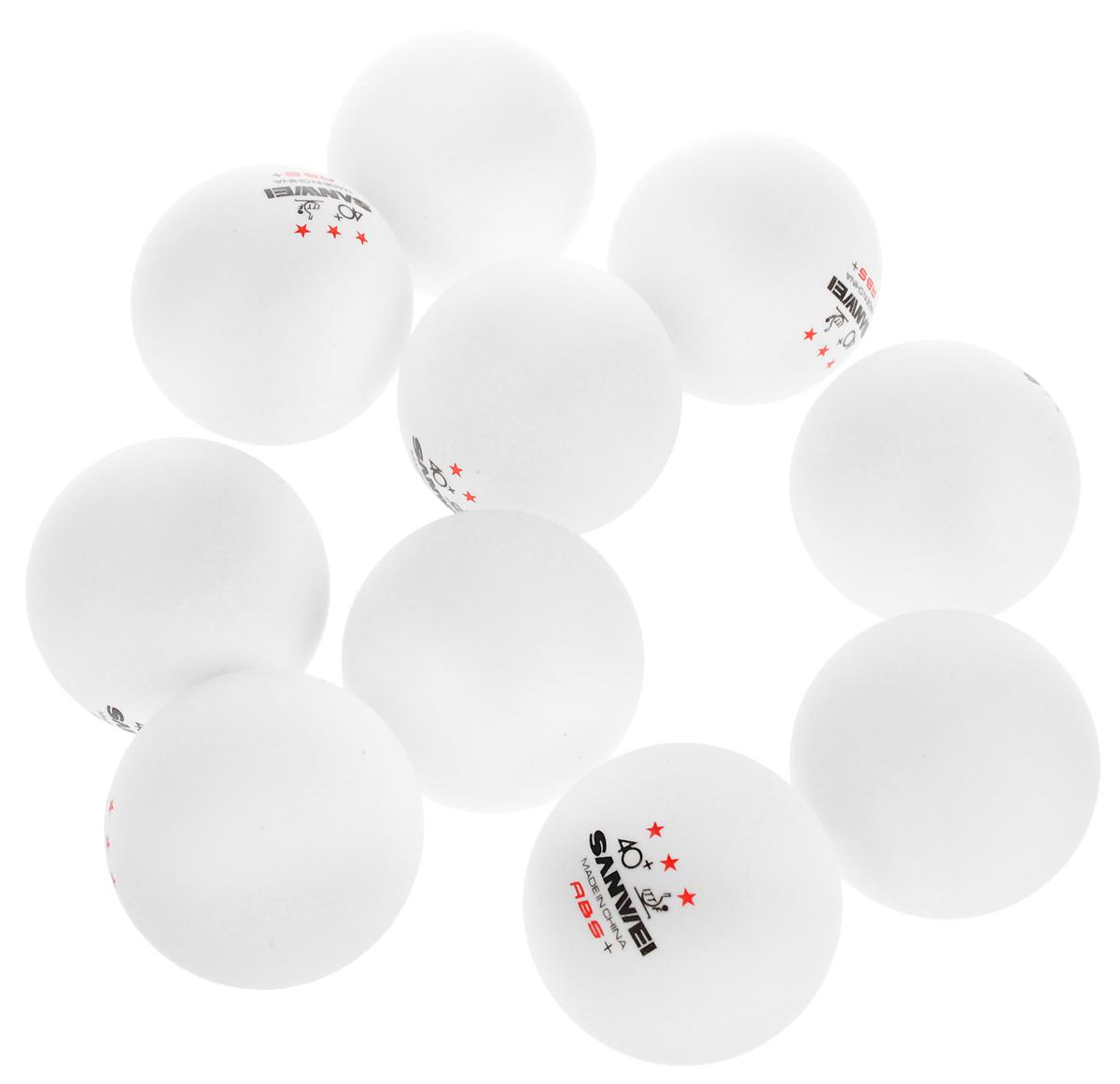 Шарики для пинг-понга Sanwei ABS, 40+, 10 шт40308Шарики Sanwei ABS используются для игры в пинг-понг. Они изготовлены из пластика и не имею швов. Шары предназначены для профессионального уровня подготовки.В комплекте 10 штук.Диаметр шара: 4 см.