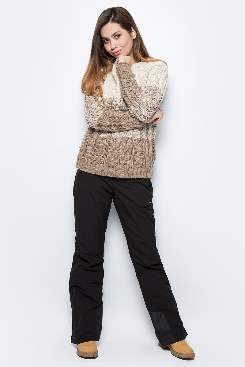 Брюки женские Luhta, цвет: черный. 838714839LV_990. Размер 42 (50) женские брюки лэйт светлый размер 50