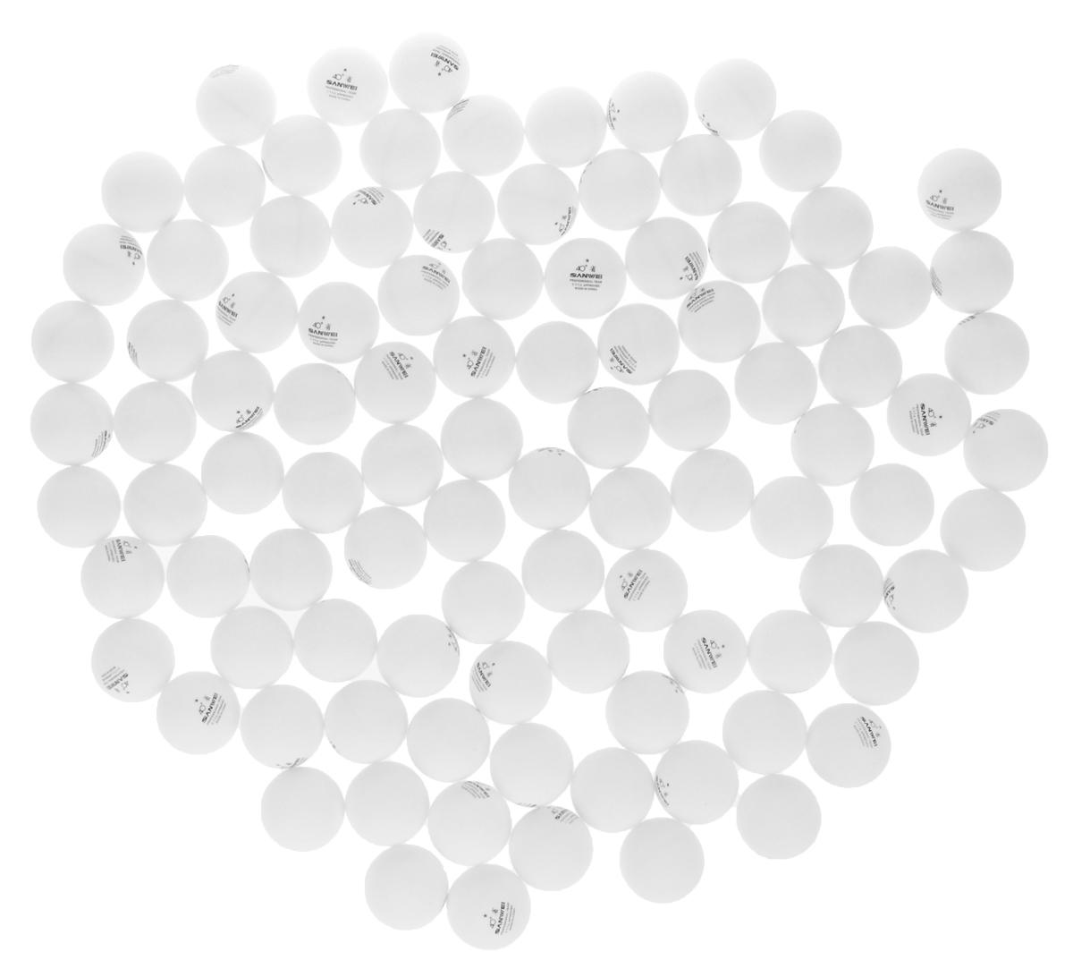Шарики для пинг-понга Sanwei ABS, 40+, 100 шт. 4017440174Шарики Sanwei ABS используются для игры в пинг-понг. Они изготовлены из пластика и не имею швов. Шары предназначены для прогрессирующего уровня подготовки.В комплекте 100 штук.Диаметр шара: 4 см.