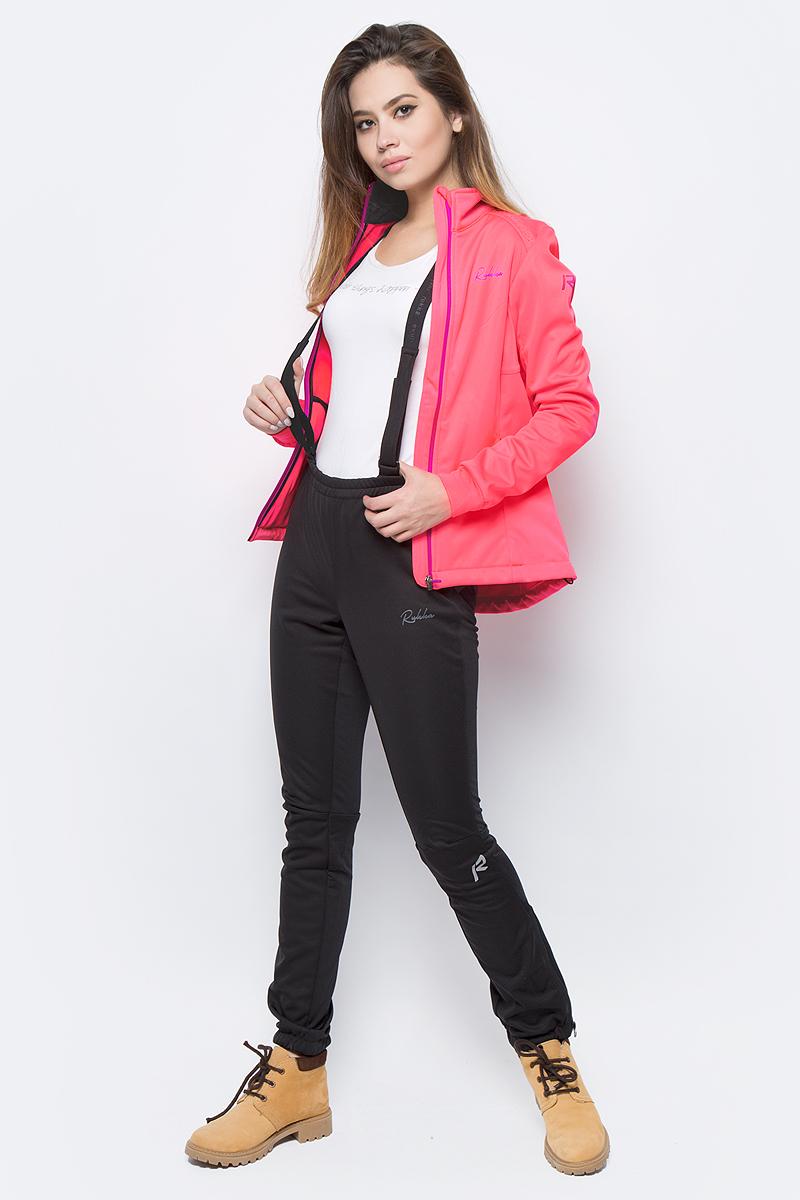 Комплект женский Rukka: толстовка, брюки, цвет: светло-розовый. 878639237RV_445. Размер 40 (48)878639237RV_445Костюм для занятий лыжным спортом по технологии Rukka Soft Shell. Кофта на молнии и брюки выполнены из ветрозащитного материала, утеплённого микрофлисом с внутренней стороны. В модели предусмотрены вставки для дополнительной вентиляции. В куртке есть два внешних кармана на молнии, эластичные манжеты в рукавах, и добавлены светоотражающие элементы. Брюки имеют съёмные регулируемые подтяжки, молнии внизу брючины для облегчения надевания лыжных ботинок, и нескользящую силиконовую тесьму по нижнему шву брюк.