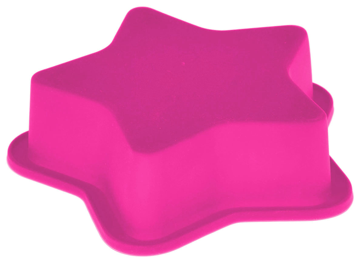 Форма для выпечки Доляна Звезда, цвет: розовый, 13,5 х 13,5 х 3 см1063389_розовыйФорма для выпечки из силикона - современное решение для практичных и радушных хозяек. Оригинальный предмет позволяет готовить в духовке любимые блюда из мяса, рыбы, птицы и овощей, а также вкуснейшую выпечку.Почему это изделие должно быть на кухне?блюдо сохраняет нужную форму и легко отделяется от стенок после приготовления;высокая термостойкость (от -40 до 230 ?) позволяет применять форму в духовых шкафах и морозильных камерах;небольшая масса делает эксплуатацию предмета простой даже для хрупкой женщины;силикон пригоден для посудомоечных машин;высокопрочный материал делает форму долговечным инструментом;при хранении предмет занимает мало места.Советы по использованию формыПеред первым применением промойте предмет теплой водой.В процессе приготовления используйте кухонный инструмент из дерева, пластика или силикона.Перед извлечением блюда из силиконовой формы дайте ему немного остыть, осторожно отогните края предмета.Готовьте с удовольствием!