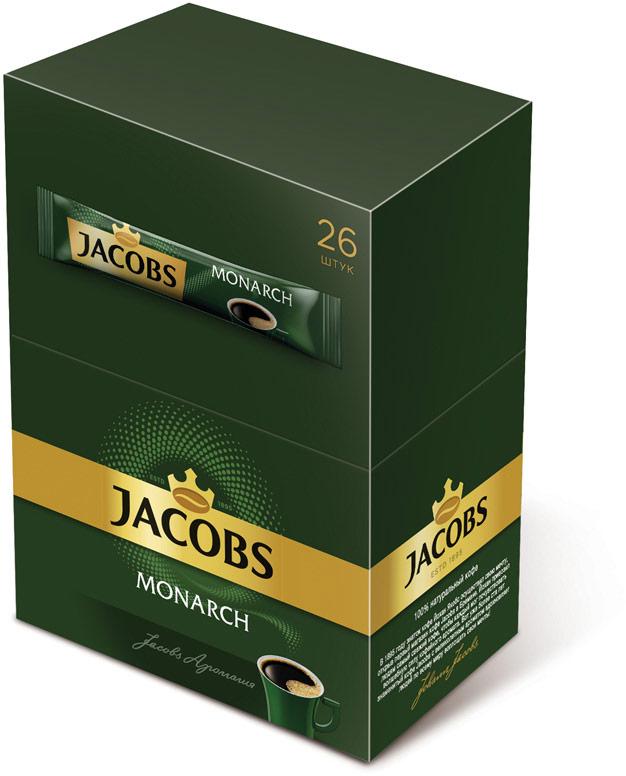 Jacobs Monarch кофе растворимый в пакетиках, 26 шт625648Jacobs Monarch обладает богатым, классическим вкусом и притягательным ароматом благодаря искусному сочетанию отборных кофейных зерен и глубокой обжарке. Почувствуйте как его Аромагия заполняет все вокруг, создавая атмосферу теплоты и общения.Уважаемые клиенты! Обращаем ваше внимание на то, что упаковка может иметь несколько видов дизайна. Поставка осуществляется в зависимости от наличия на складе.Кофе: мифы и факты. Статья OZON Гид