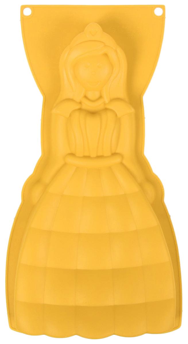 Форма для выпечки Доляна Леди, цвет: желтый, 32 х 17,5 х 4 см1210674_желтыйФорма для выпечки из силикона — современное решение для практичных и радушных хозяек. Оригинальный предмет позволяет готовить в духовке любимые блюда из мяса, рыбы, птицы и овощей, а также вкуснейшую выпечку.Почему это изделие должно быть на кухне?блюдо сохраняет нужную форму и легко отделяется от стенок после приготовления;высокая термостойкость (от –40 до 230 ?) позволяет применять форму в духовых шкафах и морозильных камерах;небольшая масса делает эксплуатацию предмета простой даже для хрупкой женщины;силикон пригоден для посудомоечных машин;высокопрочный материал делает форму долговечным инструментом;при хранении предмет занимает мало места.Советы по использованию формыПеред первым применением промойте предмет тёплой водой.В процессе приготовления используйте кухонный инструмент из дерева, пластика или силикона.Перед извлечением блюда из силиконовой формы дайте ему немного остыть, осторожно отогните края предмета.Готовьте с удовольствием!