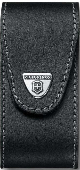 Чехол на ремень Victorinox для ножа 111 мм WorkChamp XL (0.9064.XL), кожаный, цвет: черный кожаный ремень klingel цвет черный