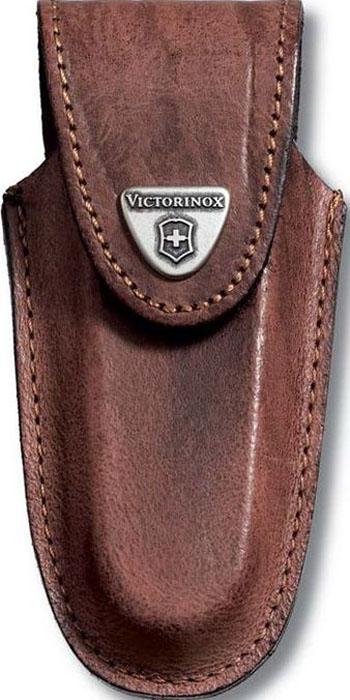 Чехол на ремень Victorinox для ножей 111 мм толщиной 2-3 уровня, кожаный, цвет: коричневый