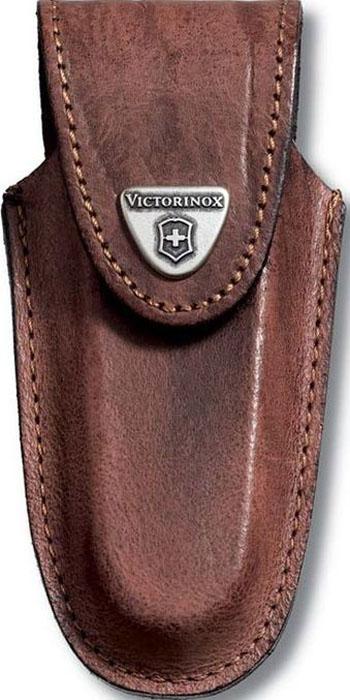Чехол на ремень Victorinox для ножей 111 мм толщиной 5-8 уровней, кожаный, цвет: коричневый