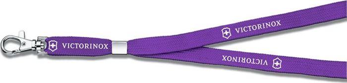 Шнурок на шею Victorinox, с карабином, цвет: фиолетовый. 4.1879.5034.1879.503Шнурок на шею Victorinox имеет металлический карабин для ношения ножа. Иногда доставать складной нож из карманов бывает неудобно. Попробуйте использовать шнурок, предназначенный для ношения ножа на шее. Это простой и надежный способ, позволяющий вашему ножу Victorinox всегда находиться у вас под рукой и греть ваше сердце.