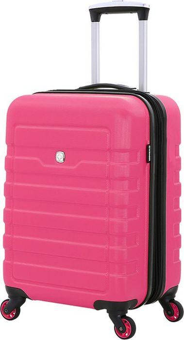 Чемодан Wenger Tresa, на колесах, цвет: розовый, 38 л6581838154Надежный аксессуар для любых путешествий. Чемодан изготовлен из специального пластика повышенной прочности, имеет хорошую противоударную устойчивость и надежно защитит содержимое от загрязнения. Чемодан сконструирован особым компактным образом и обладает повышенной маневренностью. Телескопическая ручка из алюминия максимально складывается в специальный отсек. Четыре поворотных колеса имеют полноценный радиус вращения. Для комфорта при транспортировке сверху чемодана предусмотрена внешняя ручка. Чемодан закрывается на двустороннюю молнию, бегунки с функцией крепления замка. Внутреннее отделение разделено на отсеки: имеются два отсека повышенной вместительности для основных вещей – нижний, с х-образной резинкой-фиксатором и верхний отдел с эластичной сеткой – для дополнительных вещей, с закрывающимся клапаном на молнии. Также предусмотрен карман для полезных мелочей. Чемодан представлен в ярком дизайне и фактурной отделкой корпуса.Вес: 2,8 кг; объем: 38 л.Размер: 35 x 24 x 54 см.