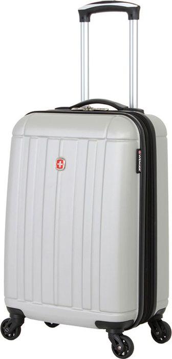 Чемодан Wenger Uster, цвет: серый металлик, 37 лWGR6297404154Небольшой чемодан Wenger Uster WGR6297404154 изготовлен из АБС-пластика.Его объем составляет 37 литров, а размер - 34 x 22 x 55 см. Такой компактный чемодан пригоден для использования в качестве ручной клади в большинстве авиакомпаний мира.Надежная застежка-молния плотно закрывает содержимое чемодана.Внутренние фиксирующие ремни Wenger Uster обеспечивают бережную транспортировку вещей, находящихся в глубоком отделении. Большой сетчатый карман на молнии пригодится для хранения мелких вещей и важных документов.Вращающиеся на 360 градусов пластиковые колесики обеспечат маневренность передвижения чемодана. Легкая телескопическая ручка с фиксатором облегчает процесс управления его движением.