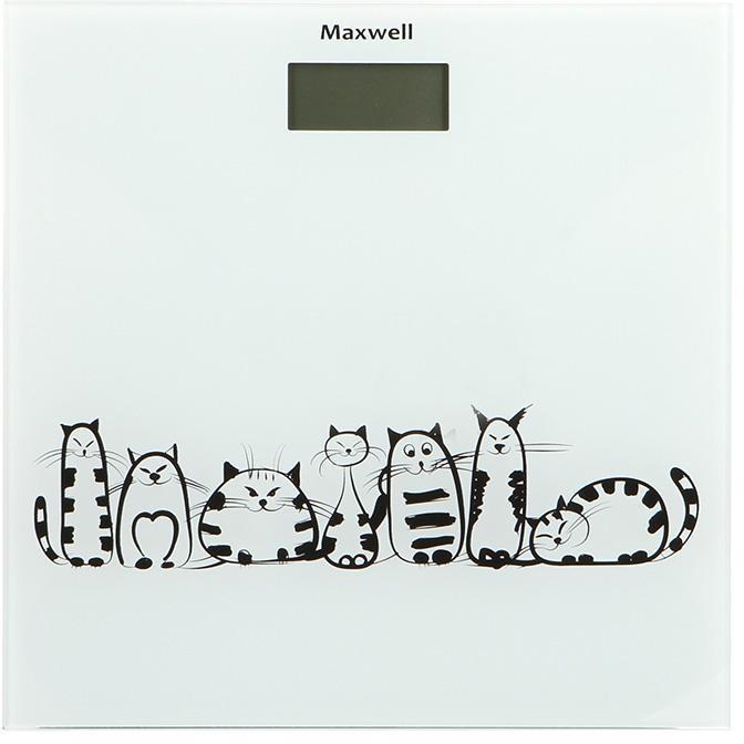 Maxwell MW-2675(W) напольные весыMW-2675(W)Напольные весы Maxwell – большой выбор по приемлемой цене!Многие люди, стремящиеся похудеть, покупают весы напольного типа. Но их разнообразие настолько велико, что выбрать подходящую модель довольно сложно. И если вы затрудняетесь в выборе, то обратите внимание на напольные весы торговой марки Maxwell. Широкий модельный ряд, разные функциональные особенности, эксклюзивный дизайн и высокое качество – все это выделяет технику Maxwell на фоне многочисленных аналогов.