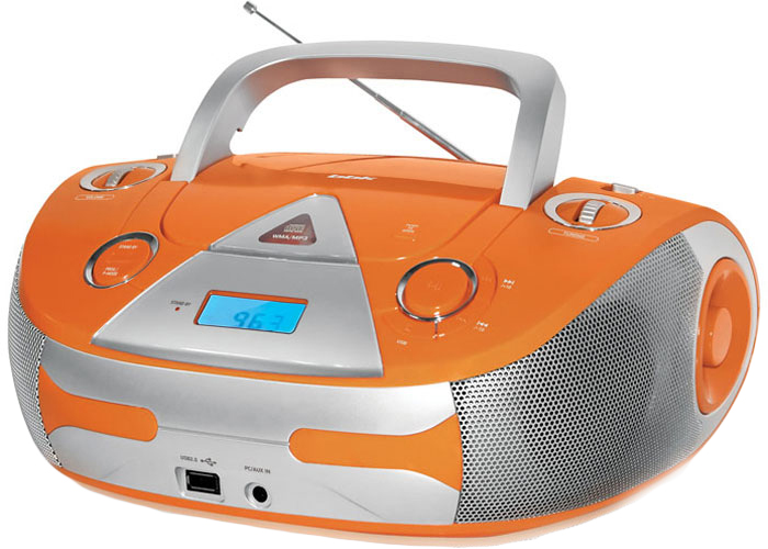 BBK BX325U, Orange Silver CD/MP3 магнитола