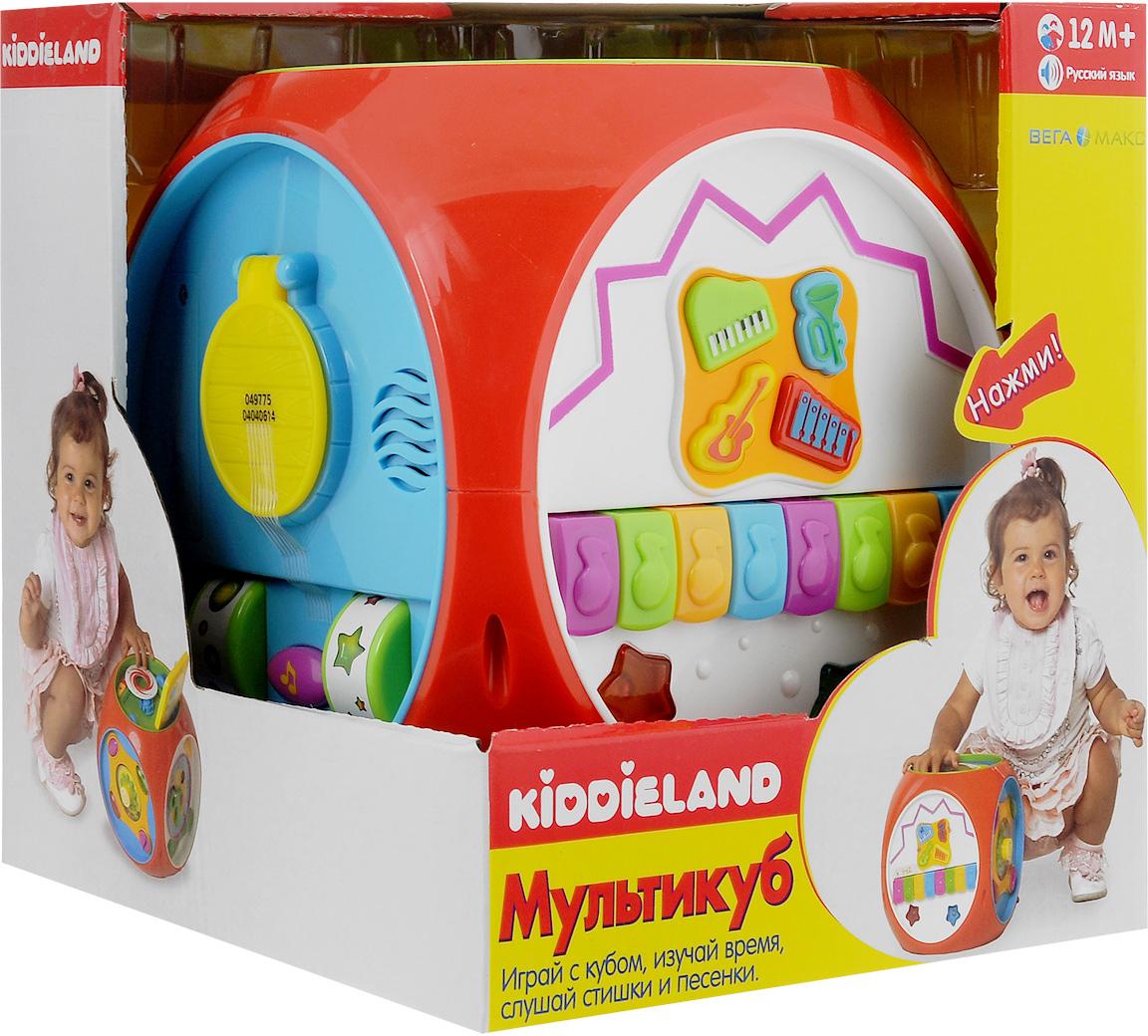 Развивающая музыкальная игрушка Kiddieland Мультикуб kiddieland набор музыкальных инструментов kiddieland