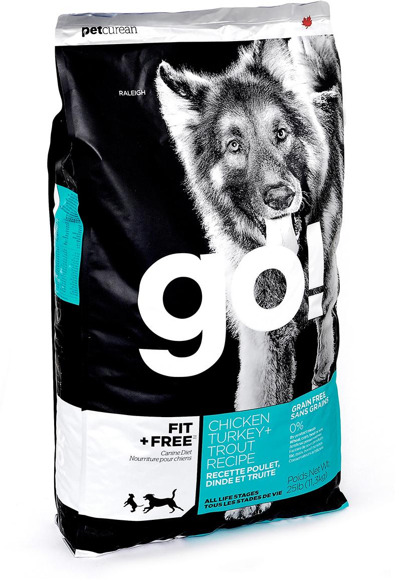 Корм сухой для собак Go!, беззерновой, с индейкой, курицей, уткой и лососем, 11,35 кг филе форели свежемороженое в кирове