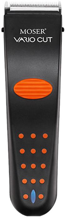 Moser Vario Cut машинка для стрижки (1873-0055)1873-0055Профессиональная аккумуляторно-сетевая машинка для стрижки волос Moser Vario Cut роторного типа оснащена никель-металл-гидридным аккумулятором и может работать без подзарядки в течение 75 минут. Индикатор заряда подскажет, когда необходимо подзарядить батарею. Съемный металлический нож имеет ширину 46 мм, с помощью него вы легко подстрижете волосы на длину от 0,7 до 3 мм, а также можно воспользоваться идущими в комплекте насадками 3, 6, 9, 12 мм для достижения желаемого результата.