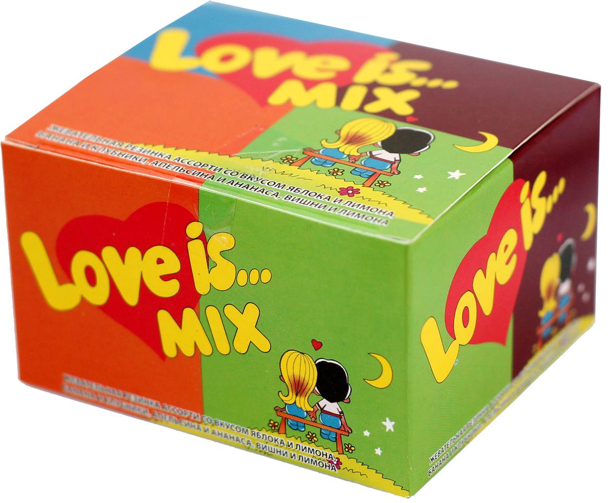 Love is Жевательная резинка, микс, 20 шт4640000277918Love is... сегодня не просто жевательная резинка, а культурное явление, знаковый продукт 90-х годов.Одна подушечка Love is... способна перенести вас в мир детства, а история на вкладыше — подарить отличное настроение! В упаковке - 20 жвачек ассорти, со вкусами яблока и лимона, банана и клубники, апельсина и ананаса, вишни и лимона.