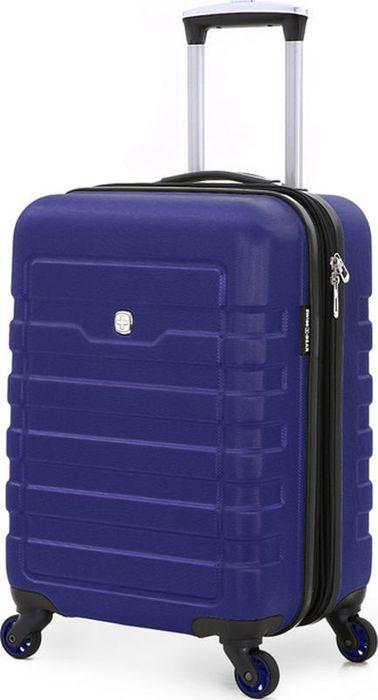 Чемодан Wenger Tresa, цвет: синий, 38 лWG6581343154Надежный аксессуар для любых путешествий – чемодан Wenger TRESA WG6581343154 изготовлен из специального пластика повышенной прочности, имеет хорошую противоударную устойчивость и надежно защитит содержимое от загрязнения. Чемодан сконструирован особым компактным образом и обладает повышенной маневренностью. Телескопическая ручка из алюминия максимально складывается в специальный отсек. 4 поворотных колеса имеют полноценный радиус вращения. Для комфорта при транспортировке сверху чемодана предусмотрена внешняя ручка. Чемодан закрывается на двустороннюю молнию, бегунки с функцией крепления замка.Внутреннее отделение разделено на отсеки: имеются два отсека повышенной вместительности для основных вещей – нижний, с х-образной резинкой-фиксатором и верхний отдел с эластичной сеткой – для дополнительных вещей, с закрывающимся клапаном на молнии. Также предусмотрен карман для полезных мелочей.Чемодан представлен в ярком дизайне и фактурной отделкой корпуса. Размер изделия – 35 x 24 x 54 см, вместимость – 38 л. Такой компактный чемодан пригоден для использования в качестве ручной клади в большинстве авиакомпаний мира.Как выбрать чемодан. Статья OZON Гид