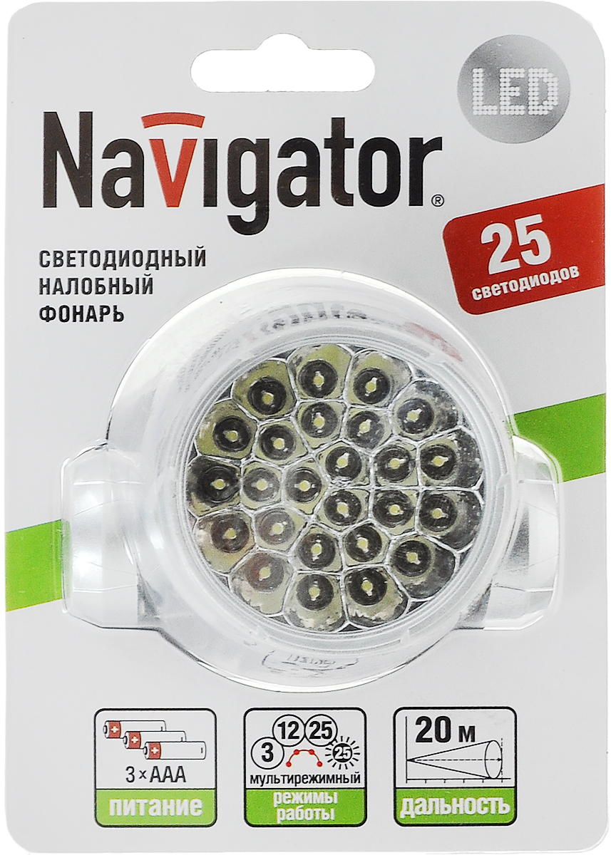 Фонарь ручной Navigator 94 946 NPT-H01-3AAA фонарь кемпинговый navigator 94 948 npt ca06 3aa светодиодный