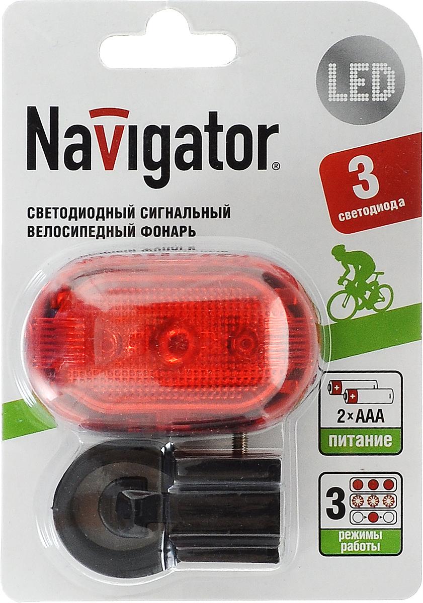 Фонарь велосипедный Navigator 94 965 NPT-B02-2AAA4607136949652Велосипедный фонарь Navigator 94 965 NPT-B02-2AAA - незаменимый помощник для безопасной прогулки на велосипеде в темное время суток. Устройство имеет три режима работы: свет, мерцание, бегущее мерцание. В комплект входит надежный поворотный кронштейн для крепления на стойку седла или раму. Срок службы светодиодов: до 100 000 часов.Гид по велоаксессуарам. Статья OZON Гид