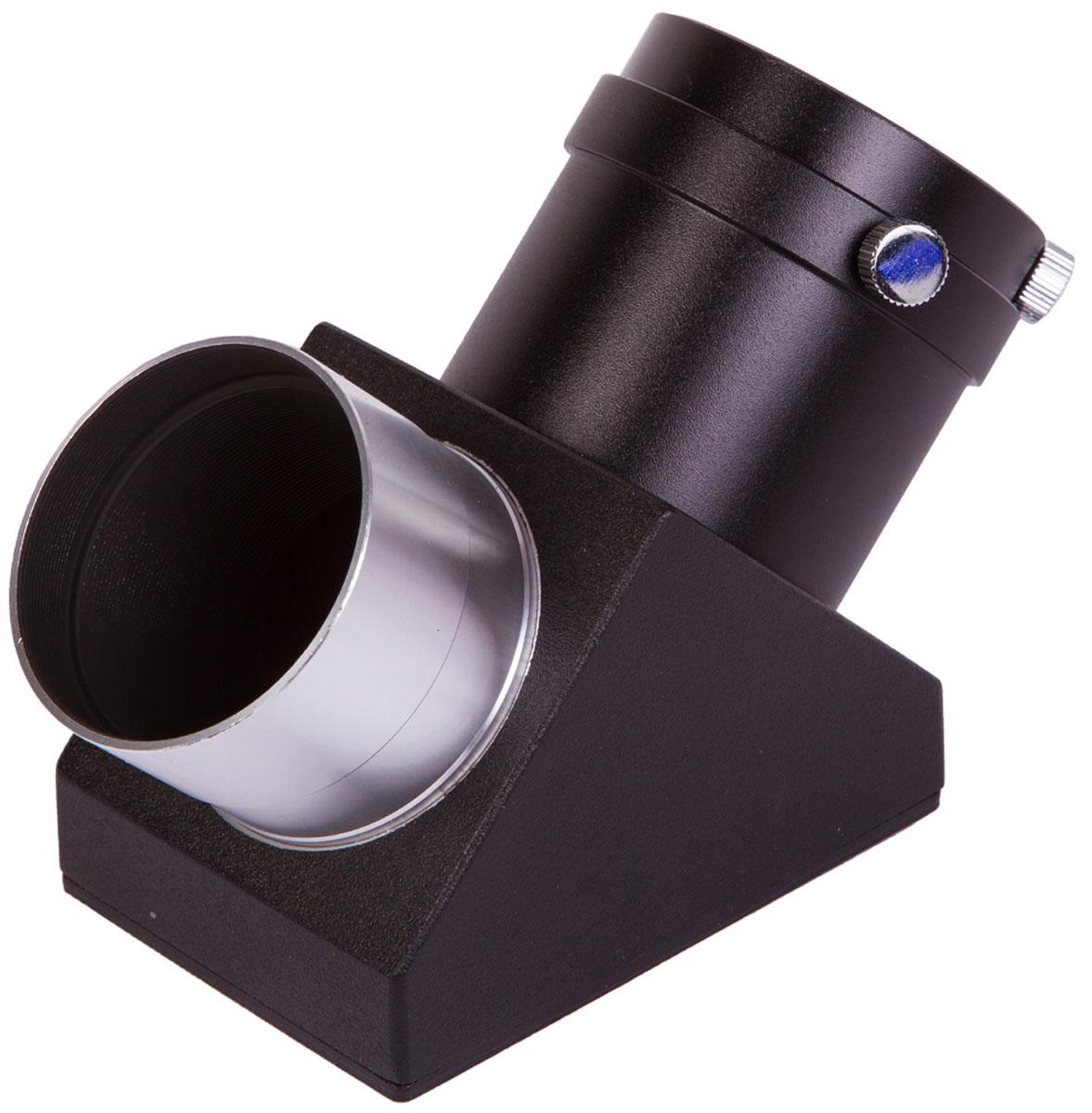 Sky-Watcher 69328 диагональное зеркало 90° 269328Диагональное зеркало Sky-Watcher 69328 используется с рефракторами и катадиоптриками. Этот аксессуар позволяет получить неперевернутое изображение в окуляре. Кроме того, благодаря диагональному зеркалу можно вести наблюдения из более удобного положения.Диагональное зеркало вставляется в фокусировочный узел телескопа, после чего в зеркало устанавливается окуляр. Посадочный диаметр этой модели – 2. Диагональное зеркало поставляется с адаптером, который позволяет использовать окуляры с посадочным диаметром 1,25. Благодаря многослойному покрытию оптики изображение получается четким и неискаженным.