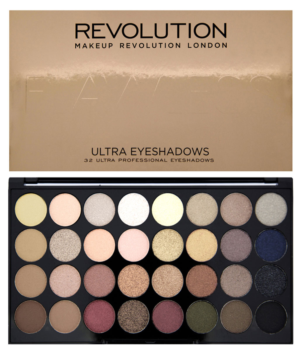 Makeup Revolution Набор из 32 теней 32 Eyeshadow Palette, Flawless, 16 гр makeup revolution salvation palette welcome to the pleasuredome hard day палетка теней